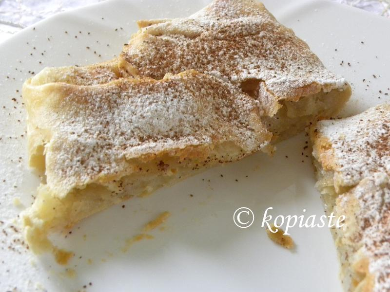 Homemade bougatsa cut 2