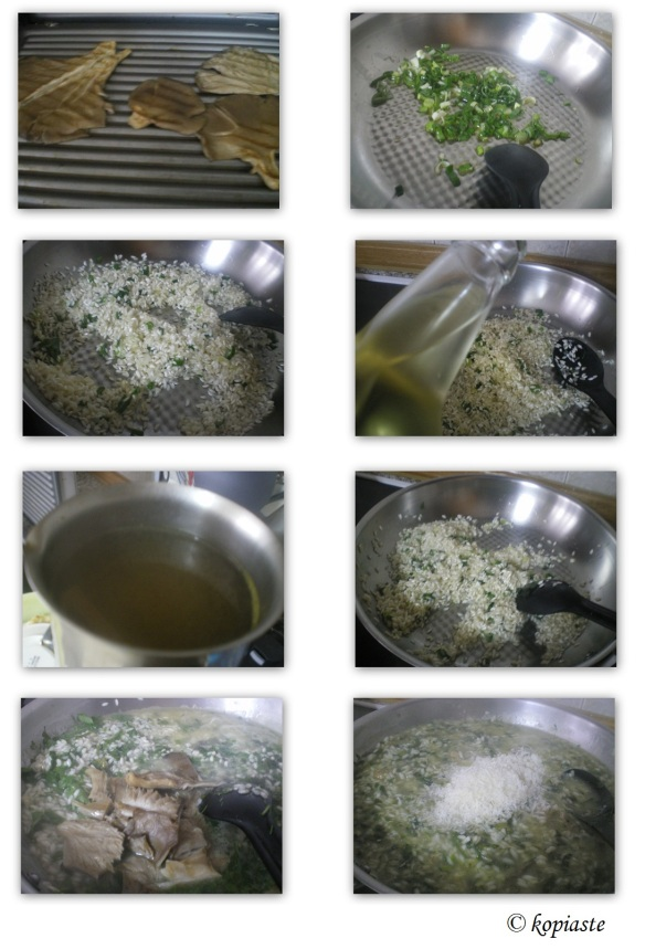 Collage Risotto Herbed Mushrooms for diet