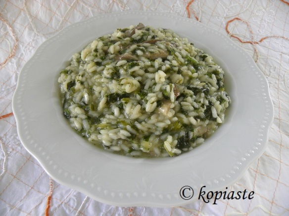 Mushroom Herbed Risotto marked
