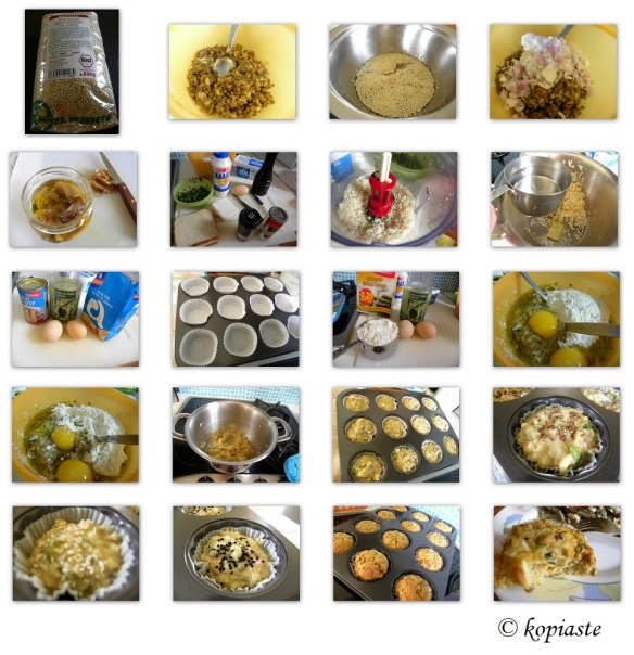Collage Lentil and Quinoa Muffins